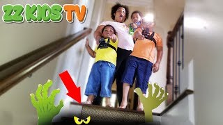 Download WHAT'S INSIDE OUR CREEPY BASEMENT! ZZ KIDS TV VLOGSKIT