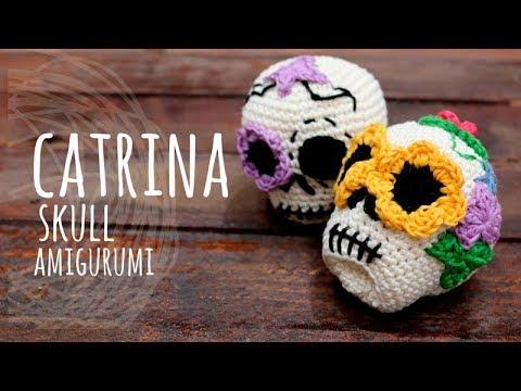 Tutorial Catrina (Skull) Amigurumi Crochet