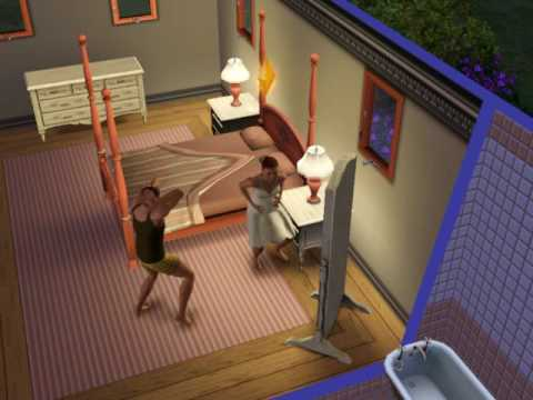 sims 3 guy freaking out