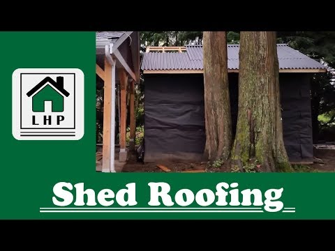 Shed Roofing with Ondura Roofing Panels - LHP