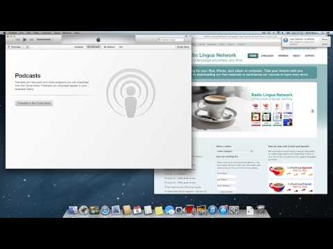 Solution for Radio Lingua podcast problems with iTunes 11.1