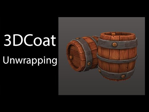 UV Mapping, Tutorial, Unwrapping, in 3DCoat & 3d Max, Wooden barrel