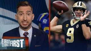Saints are better than the Rams and will win on Sunday — Nick Wright | NFL | FIRST THINGS FIRST