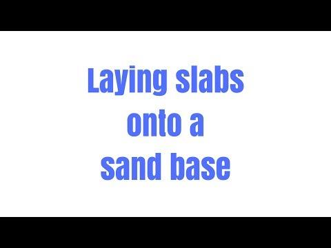 Laying paving slabs on sand - Trydiy