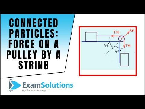 Connected particles - Force on pulley by a string : ExamSolutions
