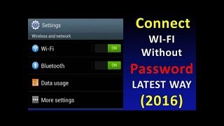 How to Connect WIFI Without Password - 100% Working