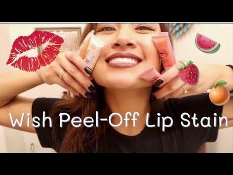 Wish.com Peel-Off Lip Stain Demo & Review   awkwardflowers_