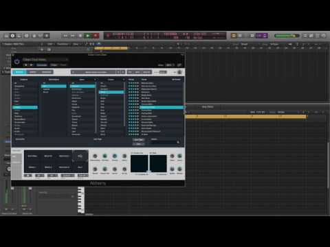 Making an electronic R&B beat and recording male vocal harmonies in Logic Pro X