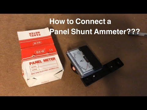 Connecting a Panel Shunt Ammeter ???