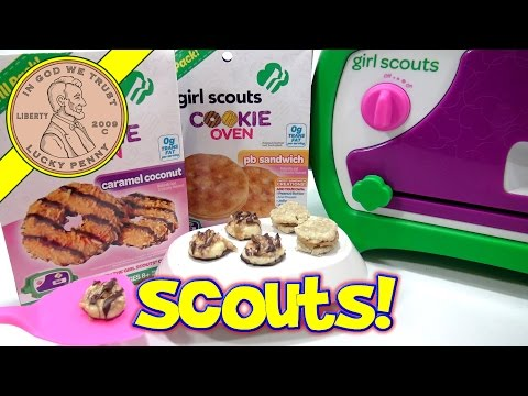 Girl Scouts Cookie Oven, I Bake Caramel Coconut PB Sandwich Cookies