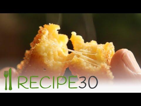 CHEESY FRIED POLENTA CHIPS - By www.recipe30.com