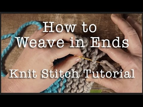 How to Knit: Weaving in Ends in Garter Stitch