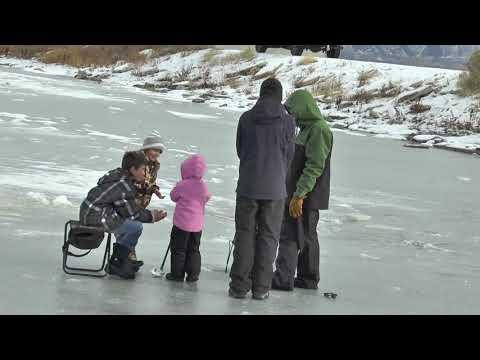 ice fishing Utah Lake