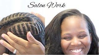 Flat + Seamless Natural Sew-In | Ali Grace Hair | #SalonWork