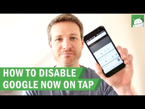 How to disable Google Now On Tap