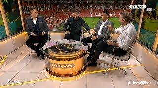 Rio Ferdinand mugs off Robbie Savage on Premier League Tonight