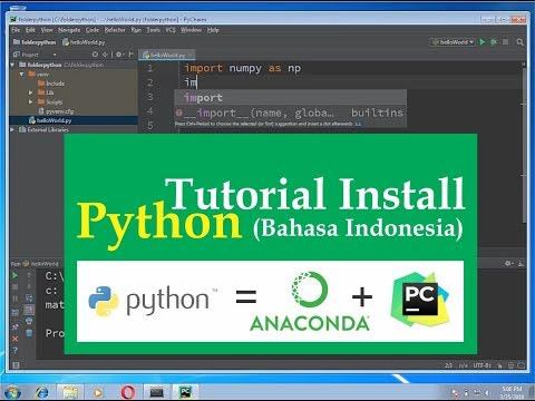 00.2 Tutorial Install Python ( Anaconda + Pycharm ) Bahasa Indonesia