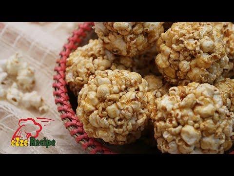 পপকর্ণ মোয়া  | Homemade Popcorn Moa | Popcorn Sweet Balls | Sweet Popcorn Recipe
