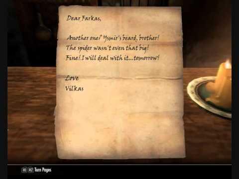 Skyrim Letters between Farkas and Vilkas