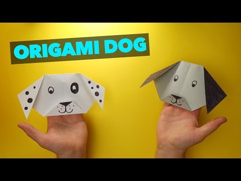 ORIGAMI for Kids - Origami Dog Tutorial (Very EASY) - How to Make a Paper Dog