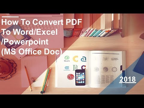 How To 🔥Convert PDF🔥 to Word/Excel/Powerpoint ( Ms office Doc)  2018