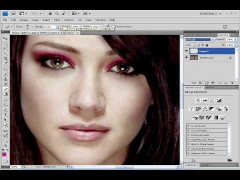 Photoshop CS4 Tutorial: Applying Make-up [How I change Colour]