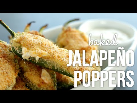 Baked Jalapeño Poppers!! Easy Stuffed Peppers Recipe