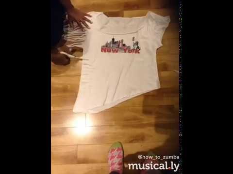 How to cut up a Zumba T-shirt