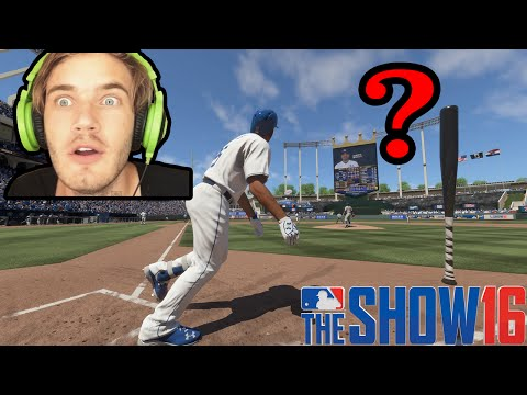 Can PewDiePie Hit A Homerun?! MLB The Show 16