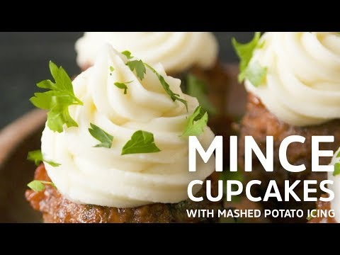 Mince Cupcakes with Mashed Potato Icing