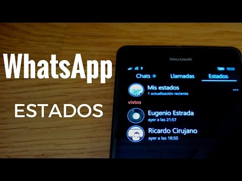 Funcionamiento WhatsApp estados en Windows Phone y Windows 10 Mobile en español