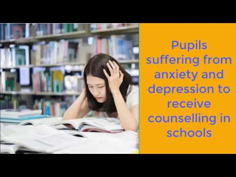 Pupils suffering from anxiety and depression to receive counselling in schools