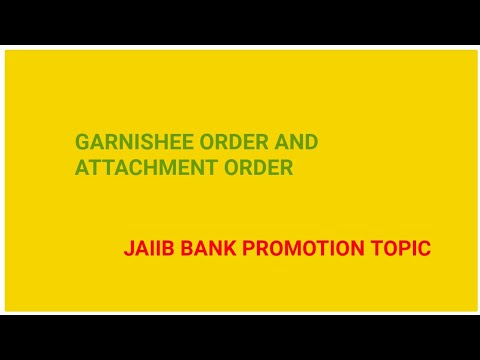 Garnishee order and attachment orders in Hindi
