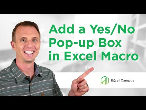 How to Add a Yes No Pop-up Message Box to a Macro Before it Runs (Part 4 of 4)