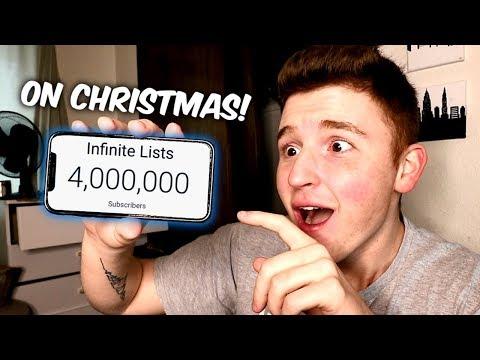 HITTING 4 MILLION SUBSCRIBERS ON CHRISTMAS!