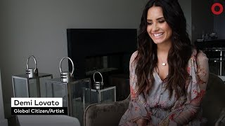 Demi Lovato and Muzoon Almellehan chat Education, Refugees and Mental Health