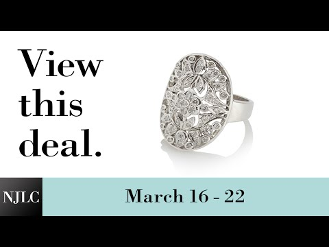 Deal of the Week: White Gold Ladies' Diamond Fashion Ring