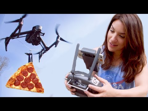 She Delivered 🍕Pizza with a Drone!