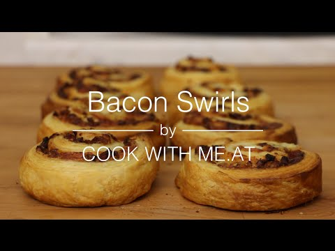 Bacon Swirls - Stuffed Rolls with Bacon Cheese & Ranch Dressing - COOK WITH ME.AT