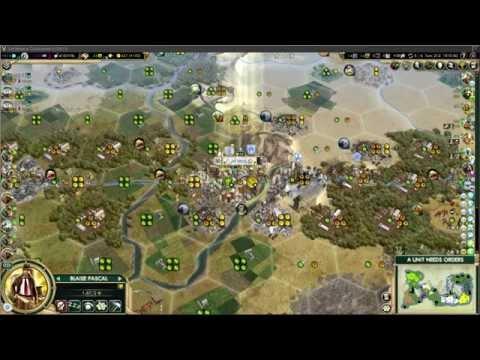 Civilization 5 Great Engineer demonstration