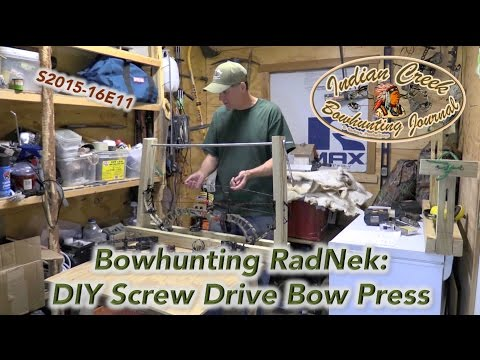 DIY Bow Press Screw Drive for $35: Indian Creek Bowhunting Journal Y16E11
