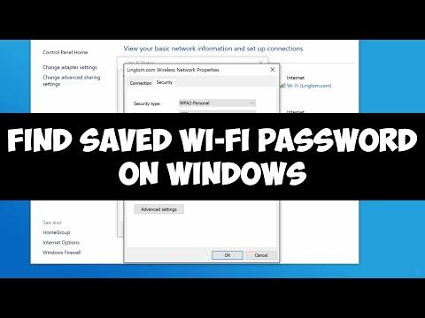 Find saved Wi-Fi password on Windows