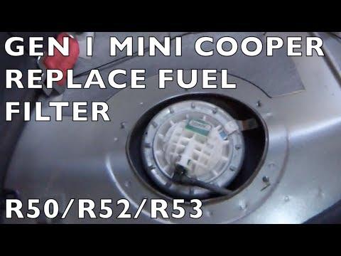 Replace Fuel Filter - Gen 1 MINI Cooper R50 R52 R53