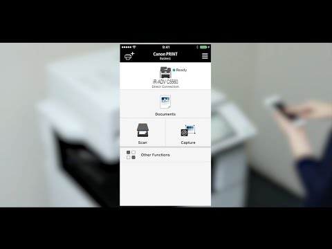 Third Generation imageRUNNER ADVANCE  How to Video - Print with the Canon PRINT Business App