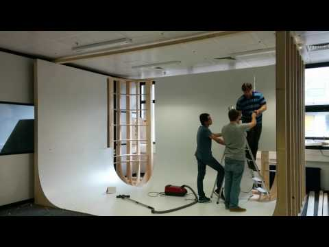 Building a green screen cyclorama - time lapse