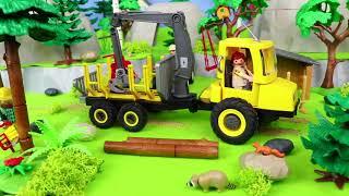 Bétonnière, bus, camion de pompiers, train, grue pour enfants - Toys Cars for kids