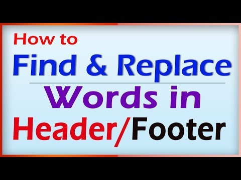 How to Find & Replace Header and Footer in word