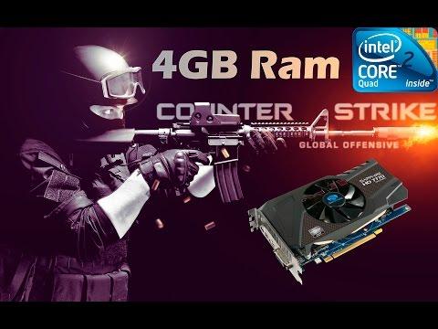 Counter Strike Global Offensive Gameplay Q6600 4gb Ram HD 7770