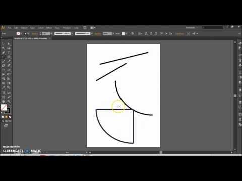 Adobe Illustrator CS6 Ders 7 Line Segment Tool - Arc Tool - Spiral Tool
