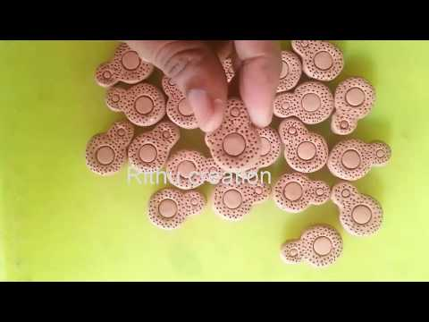 terracotta  clay beads / coin  clay  beads making / different types of terracotta or clay  beads